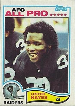 1982 Topps #189 Lester Hayes Front