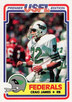 1984 Topps USFL #128 Craig James Front