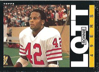 1985 Topps #156 Ronnie Lott Front