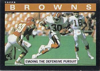 1985 Topps #221 Browns Team Leaders - Boyce Green Front