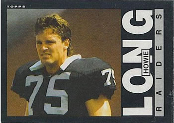 1985 Topps #292 Howie Long Front