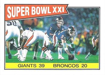 1987 Topps #1 Super Bowl XXI Front