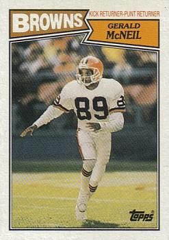 1987 Topps #94 Gerald McNeil Front