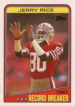 1988 Topps #6 Jerry Rice Front