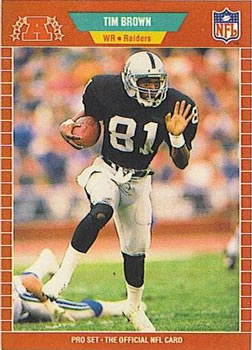 1989 Pro Set #183 Tim Brown Front