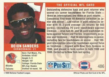Deion Sanders Gallery The Trading Card Database