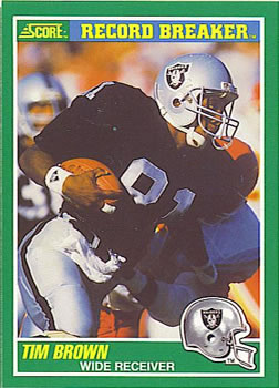 1989 Score #328 Tim Brown Front