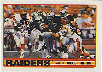 1989 Topps #264 Raiders Team Leaders - Marcus Allen Front