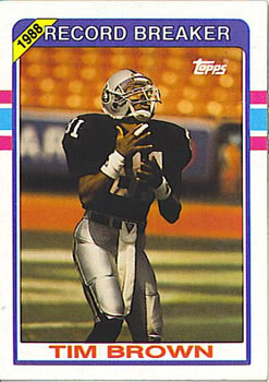1989 Topps #2 Tim Brown Front