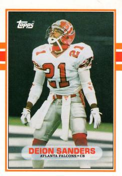 1989 Topps Traded #30T Deion Sanders Front