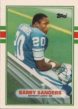 1989 Topps Traded #83T Barry Sanders Front