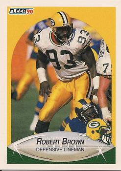 1990 Fleer #169 Robert Brown Front
