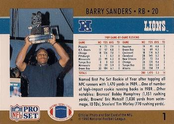 Barry Sanders Gallery The Trading Card Database