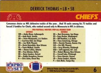 1990 Pro Set #6 Derrick Thomas Back