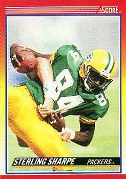 1990 Score #245 Sterling Sharpe Front