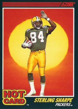 1990 Score - Hot Cards #10 Sterling Sharpe Front