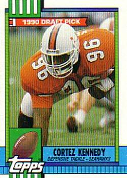 1990 Topps #334 Cortez Kennedy Front