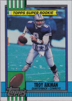 1990 Topps #482 Troy Aikman Front