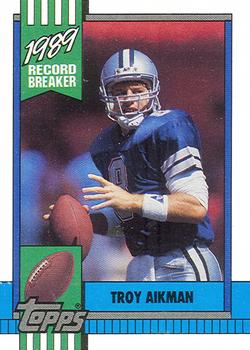 1990 Topps #3 Troy Aikman Front