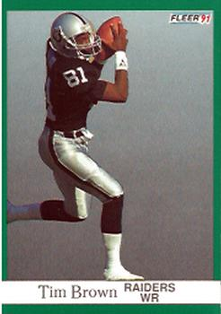 1991 Fleer #104 Tim Brown Front