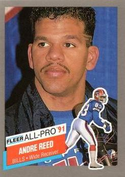 1991 Fleer - All-Pro #1 Andre Reed Front