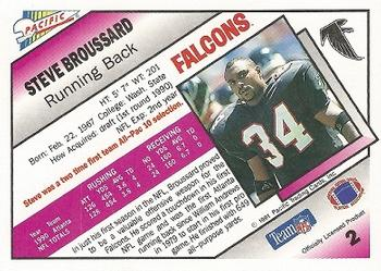 1991 Pacific #2 Steve Broussard Back
