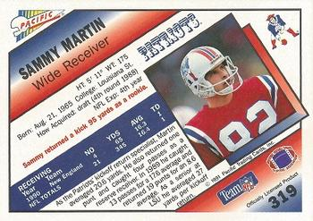 1991 Pacific #319 Sammy Martin Back