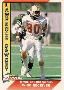 1991 Pacific #653 Lawrence Dawsey Front