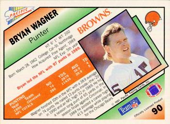 1991 Pacific #90 Bryan Wagner Back
