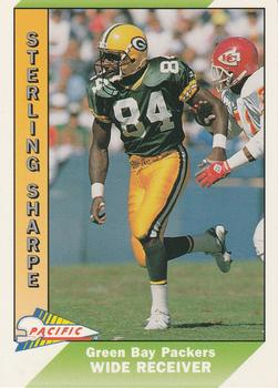 1991 Pacific #166 Sterling Sharpe Front