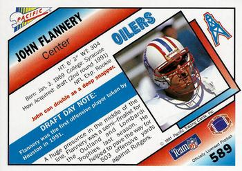 1991 Pacific #589 John Flannery Back