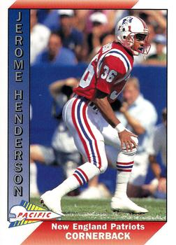 1991 Pacific #613 Jerome Henderson Front