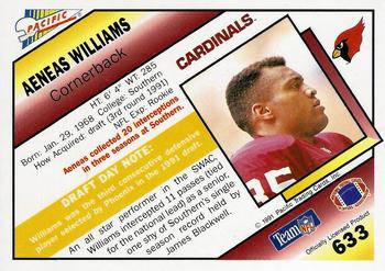 1991 Pacific #633 Aeneas Williams Back