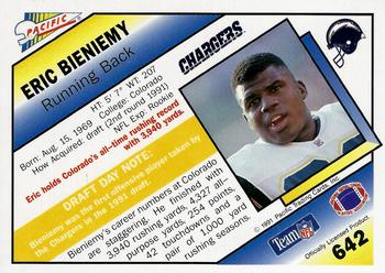 1991 Pacific #642 Eric Bieniemy Back