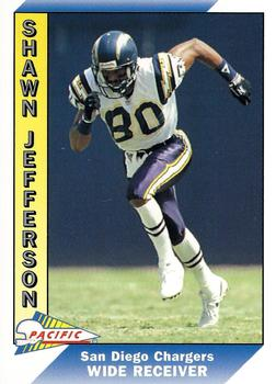 1991 Pacific #644 Shawn Jefferson Front