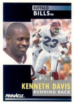 1991 Pinnacle #117 Kenneth Davis Front