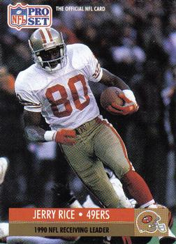 1991 Pro Set #11 Jerry Rice Front