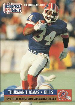 1991 Pro Set #13 Thurman Thomas Front