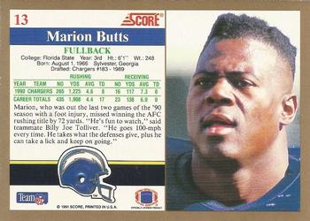 1991 Score #13 Marion Butts Back
