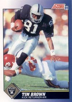 1991 Score #14 Tim Brown Front