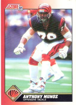 1991 Score #115 Anthony Munoz Front