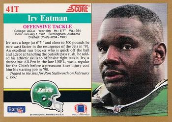 1991 Score Supplemental #41T Irv Eatman Back