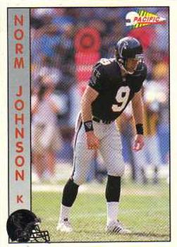 1992 Pacific #13 Norm Johnson Front