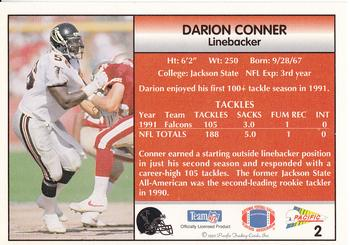 1992 Pacific #2 Darion Conner Back