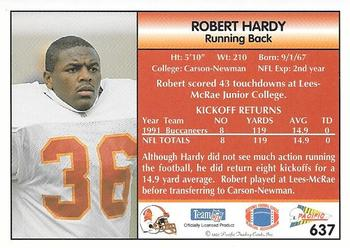 1992 Pacific #637 Robert Hardy Back