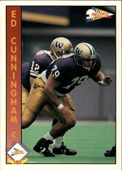 1992 Pacific #651 Ed Cunningham Front
