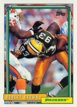 1992 Topps #284 Robert Brown Front