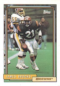 1992 Topps #509 James Brooks Front