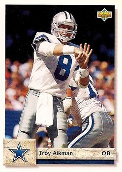 1992 Upper Deck #597 Troy Aikman Front