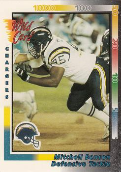 1992 Wild Card #400 Mitchell Benson Front